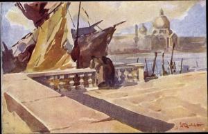 Künstler Ak Venezia Venedig Veneto, Riva degli Schiavoni