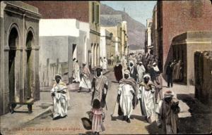 Ak Oran Algerien, Une rue du village nègre