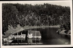 Ak Bítov Vöttau Südmähren, Alt Vöttau unter dem Wasserspiegel des Frainer Stausees