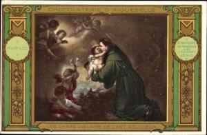 Künstler Ak Chocolaterie d'Aiguebille, Saint Antoine de Padoue avenc l'Enfant Jesus