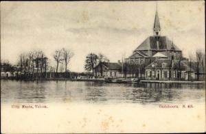 Ak Oudshoorn Südholland Niederlande, Uferpartie