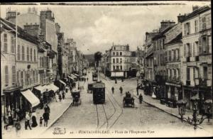 Ak Fontainebleau Seine et Marne, Place de l´Étape aux Vins