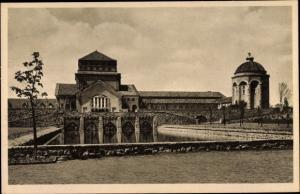 Ak Dortmund im Ruhrgebiet, Hauptfriedhof, Gebäudegruppe von Osten