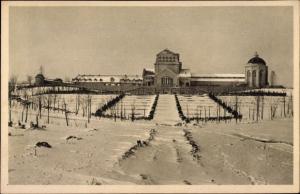 Ak Dortmund im Ruhrgebiet, Hauptfriedhof im Winter