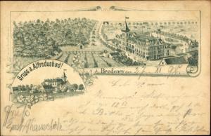 Litho Bredeney Essen im Ruhrgebiet, Panorama, Alfredusbad