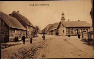 Ak Meseberg Oranienburg in Brandenburg, Dorfpartie mit Kirche