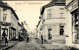 Ak Coswig in Anhalt, Friederikenstraße, Otto Giese, Buchhandlung
