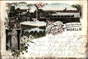 Litho Mölln im Herzogtum Lauenburg, Hotel Doctorhof, Schmalsee, Blick auf See, Blumen