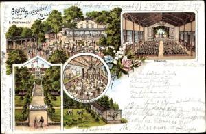 Litho Celle in Niedersachsen, Berggarten, Sommertheater, Spiegelsaal, Tierpark, Terrasse, Theater