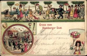 Ak Hamburg Altstadt Mitte, Hamburger Dom, Volksfest, Schiesshalle, Luftballons, Sekt, Bier