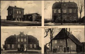 Ak Heringsdorf in Ostholstein, Bahnhof, Post, Rocksien, Theodor Hay