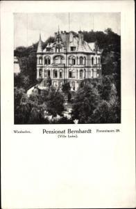 Ak Wiesbaden in Hessen, Freseniusstraße 29, Pensionat Bernhardt, Villa Luise, Totalansicht