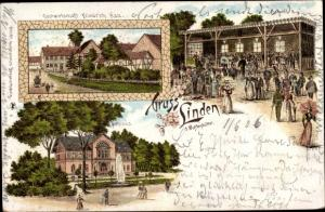 Litho Linden Wolfenbüttel in Niedersachsen, Gastwirtschaft Friedrich Kau, Schloss