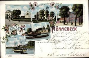 Ak Rönnebeck Hansestadt Bremen, Langestraße, Sandwich Heim, Schule, Hafen, Weser