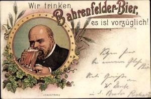 Litho Hamburg Altona Bahrenfeld, Wir trinken Bahrenfelder Bier, es ist vorzüglich
