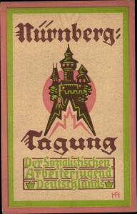 Künstler Ak Hamburg, Fuhlentwiete, Nürnberg-Tagung, Sozialistische Arbeiterjugend Deutschlands 1923