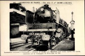 Ak Französische Eisenbahn, Dampflok, Locomotive, Tender 241 009, Type Mountain