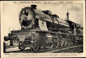Ak Französische Eisenbahn, Dampflok, Locomotive, Tender 150 179
