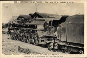 Ak Französische Eisenbahn, Dampflok, Locomotive, type Mountain, Tender 241 010
