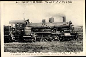 Ak Französische Eisenbahn, Dampflok, Locomotive armistice ax allemande, type Atlantic, Tender 2709