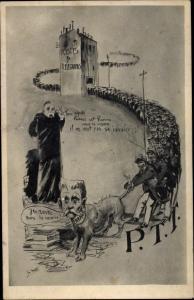 Künstler Ak PTT, Postgeschichte, Postes et Telegraphes