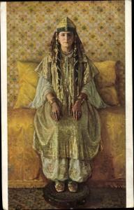 Künstler Ak Aublet, Albert, Mariee arabe, Arabische Braut