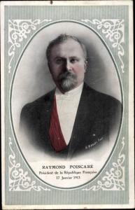 Passepartout Ak Raymond Poincare, President de la Republique Francaise