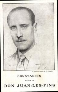Künstler Ak Geraldy, J., Constantin, Auteur de Don Juan les Pins, Schriftsteller