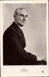 Ak Komponist Maurice Ravel, Portrait