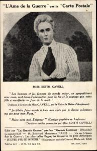 Ak Krankenschwester Edith Cavell, Portrait