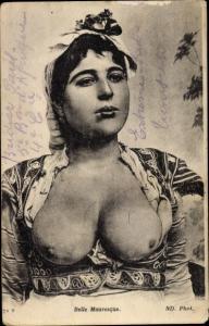 Ak Belle Mauresque, Araberin mit großem Busen, Maghreb