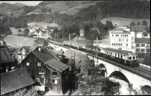Foto Ak Lichtensteig Kanton St Gallen, BTB Eilzug Arth Goldau Romanshorn