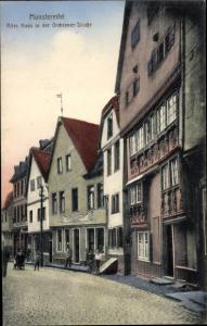Ak Bad Münstereifel in Nordrhein Westfalen, Altes Haus in der Orcheimer Straße
