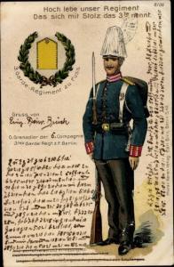 Ak 3. Garde Regiment zu Fuß Berlin, Garde Grenadier