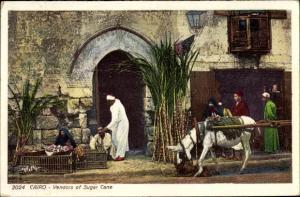 Ak Cairo Kairo Ägypten, Vendors of Sugar Cane, Zuckerrohrhändler