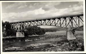 Ak Bergeforsen Schweden, Järnvägsbron