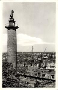 Ak Göteborg Schweden, Hamnen och Kampanilen