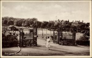 Ak Hornsea Yorkshire, Park Gates