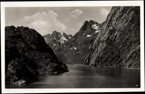 Ak Norwegen, Trollfjord, Landschaft, Berge