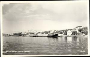 Ak Härnösand Schweden, Blick zum Hafen