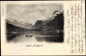 Ak Norwegen, Olden Nordfjord, Landschaft, Berge