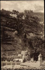 Ak Lynmouth Devon South West England, The Lift, Aufzug