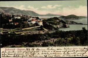 Ak Ragusa Dubrovnik Kroatien, Panoramaansicht
