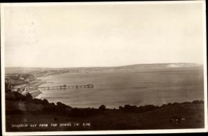 Ak Shanklin Isle of Wight South East England, Shanklin Bay from the Downs
