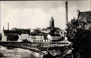 Ak Norrköping Schweden, Panorama vom Flussufer