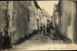Ak Cergy Val d´Oise, Ruelle de la Grande Cour