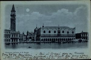 Mondschein Ak Venezia Venedig Veneto, Panoramaansicht, Isola di S. Giorgio