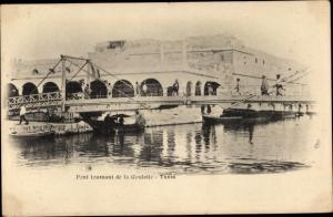 Ak Tunis Tunesien, Pont tournant de la Goulette