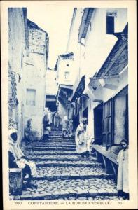 Ak Constantine Algerien, La Rue de L´Echelle