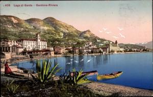 Ak Gardone Lago di Garda Lombardia, Riviera, Ruderboote